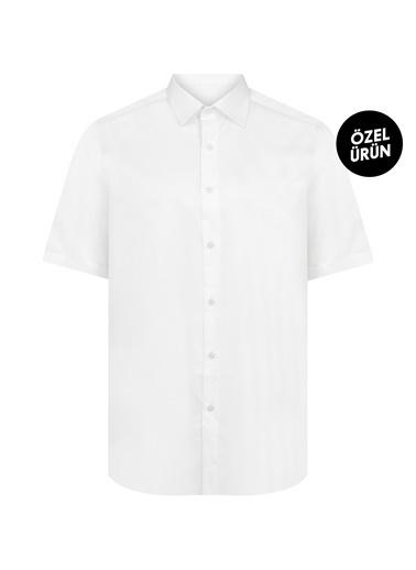 Hatemoğlu Kısa Kol Klasik Gömlek Beyaz